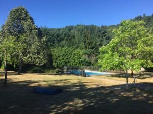 enceinte de la piscine camping le lyzeron