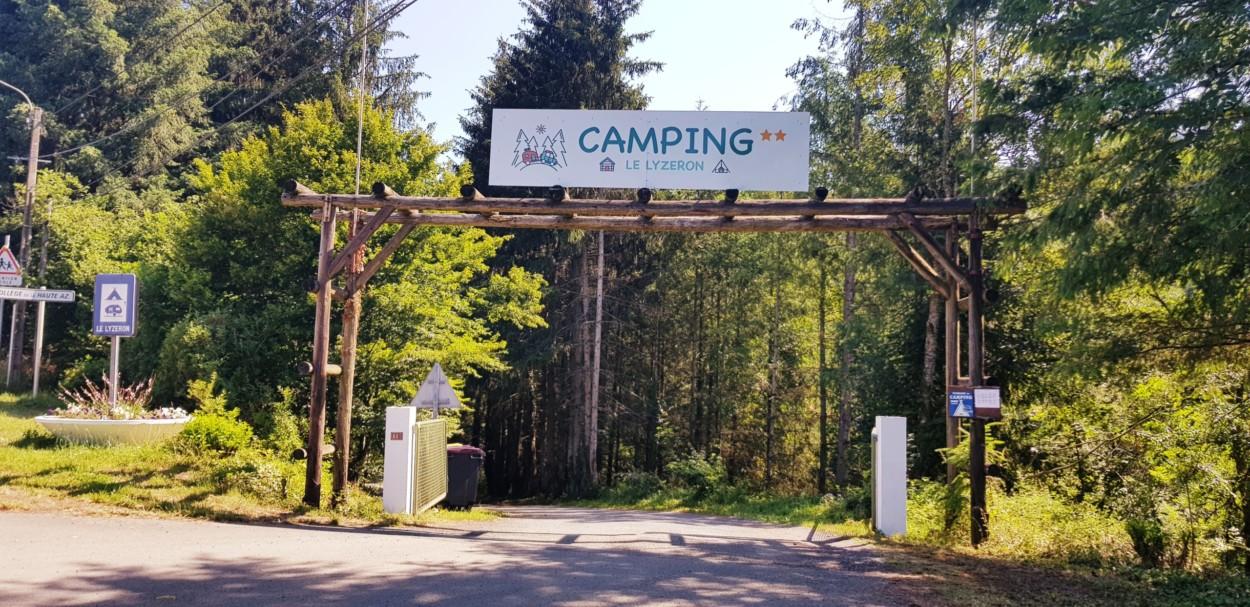Entrée camping le Lyzeron