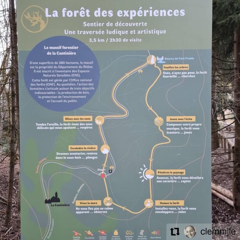 tableau explicatif forêt chambost allières